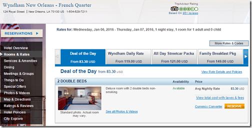 Wyndham NOFrench $84
