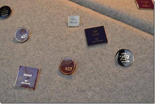 W AMS pins closeup