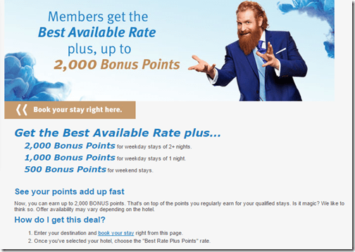 Wyndham BAR   Bonus Points