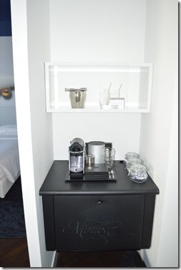 Andaz Minibar and Coffee