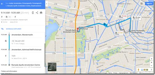 Google Maps AMS Ramada Apollo