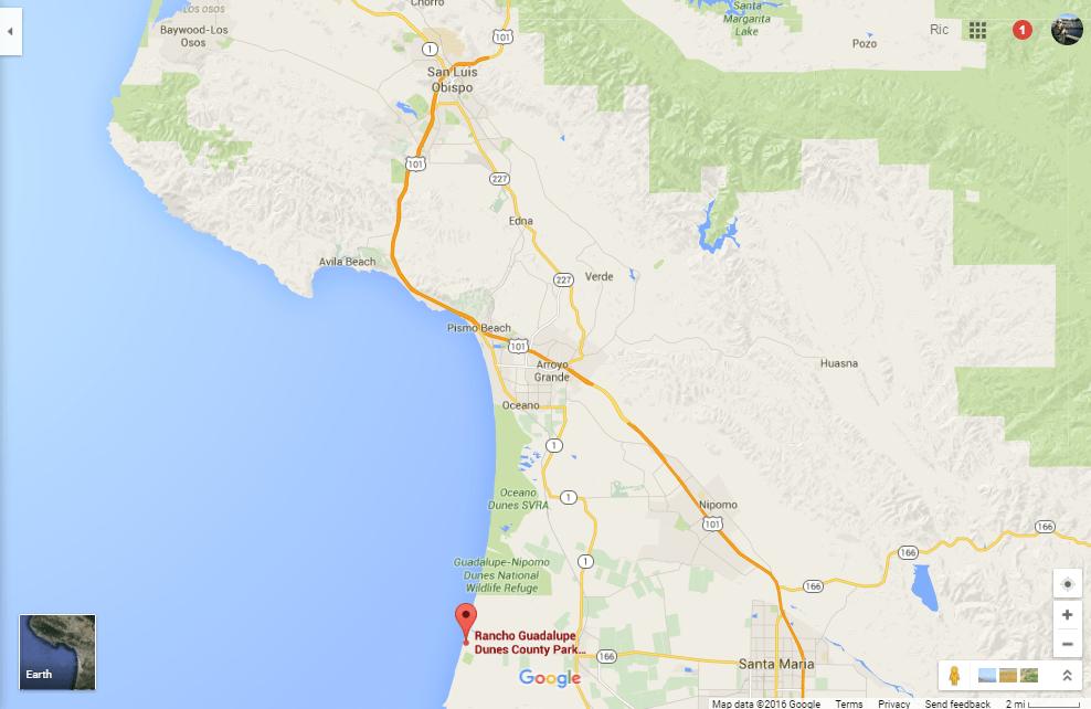 Rancho Guadalupe Dunes Santa Barbara County Beach Off Highway 1 Loyalty Traveler