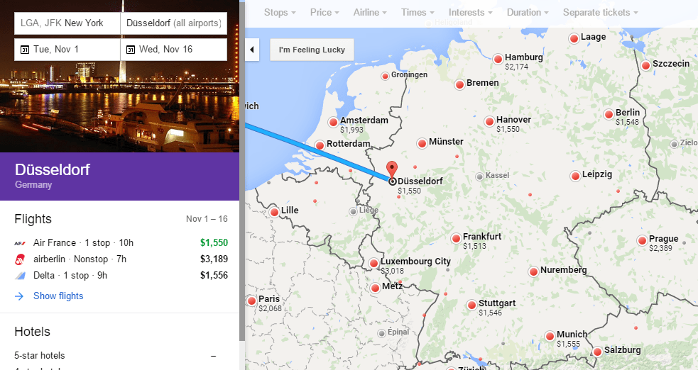 Delta Business Class New York JFK To Germany Airports Round - Germany map airports