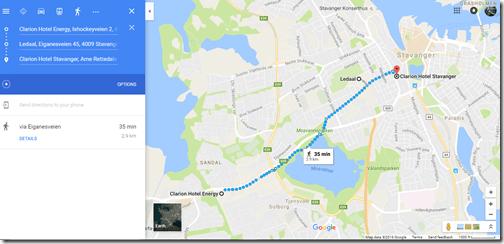 Google Maps Stavanger walk