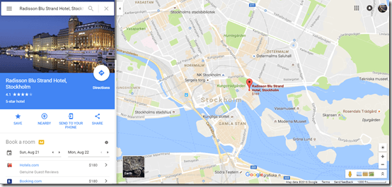 Stockholm Rad Blu Strand google maps