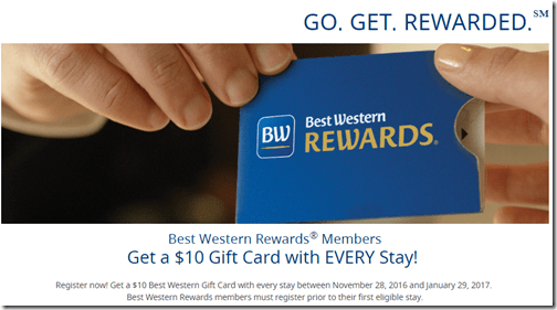BW Rewards $10 Travel Card