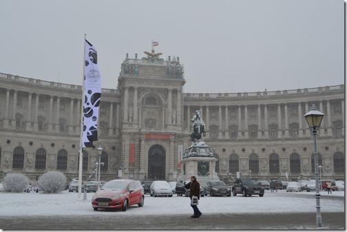 Wien Austria flag Hofburg