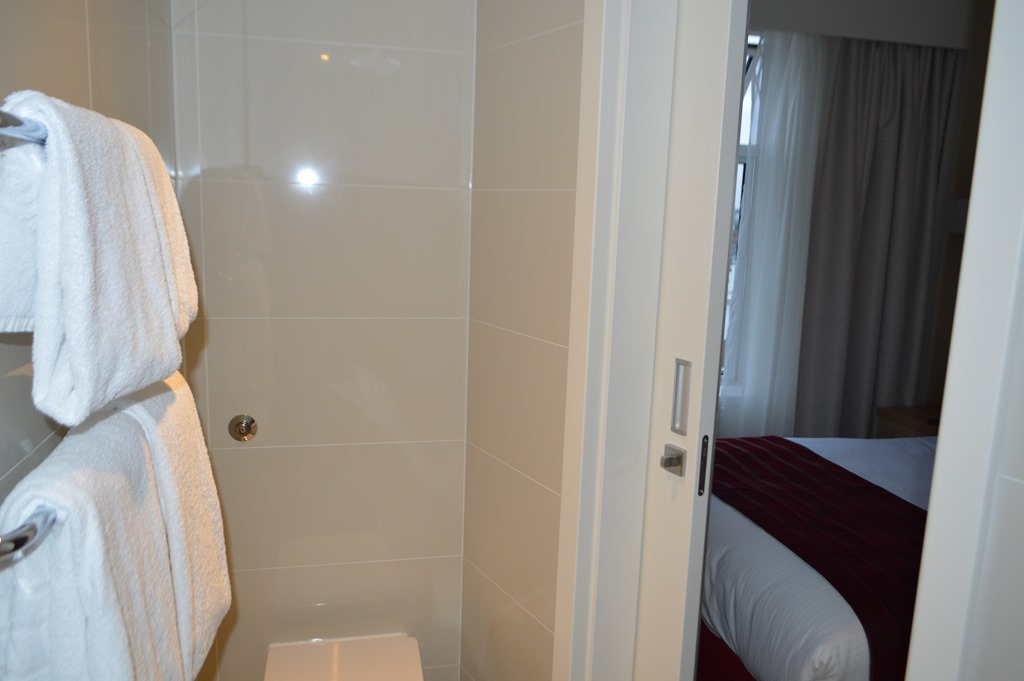 Lovely The narrow space of the bathroom meant only one person at a time could be in there unless another person in the shower