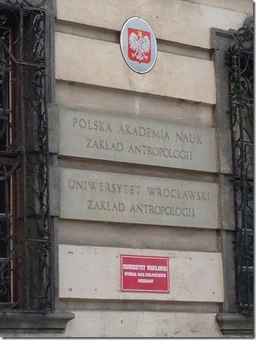 Univ Wroclaw sign