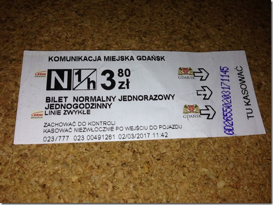 Gdansk bus ticket