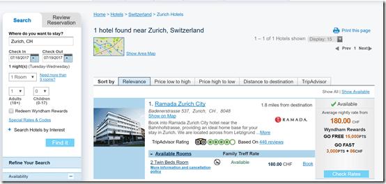 Ramada Zurich GoFast2
