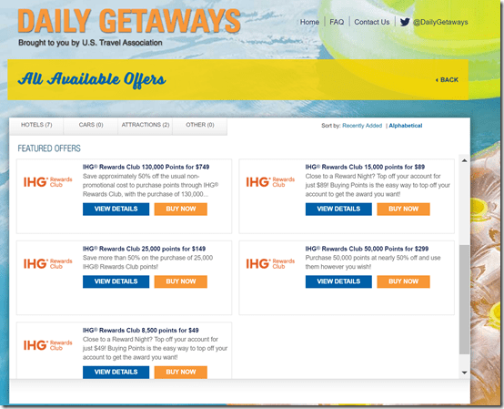 Daily Getaways IHG