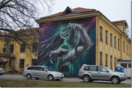 Klaipeda Old Town mural