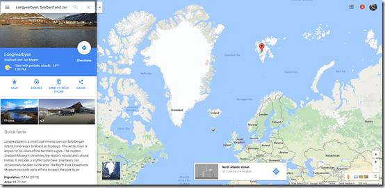Longyearbyen Google Maps
