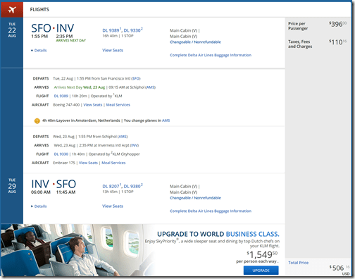 SFO-INV $506 DL Aug22-29