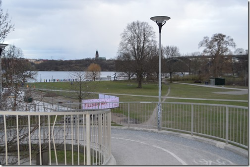 Stockholm view vasterbron bridge