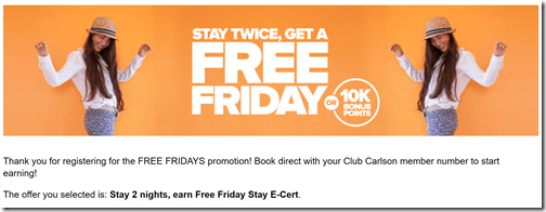 Free Friday reg