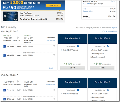 LAX-FCO $583 UA Aug 21-30