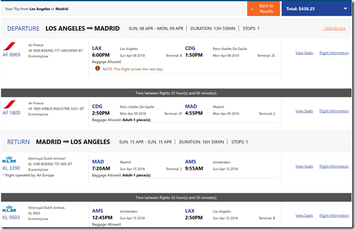 LAX-MAD $438 FlightsMojo Apr8-15