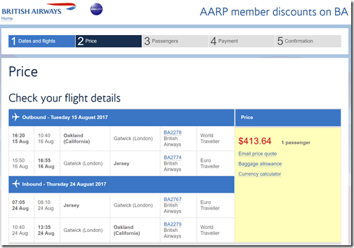 OAK-JER $414 BA-AARP Aug 15-24
