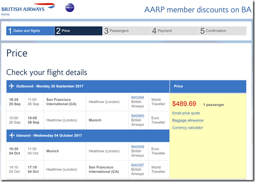 SFO-MUC $490 BA-AARP Sep25-Oct 4