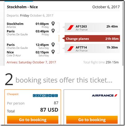 ARN-NCE $87 AF xCDG Oct 6