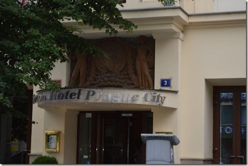 Clarion Prague City sign
