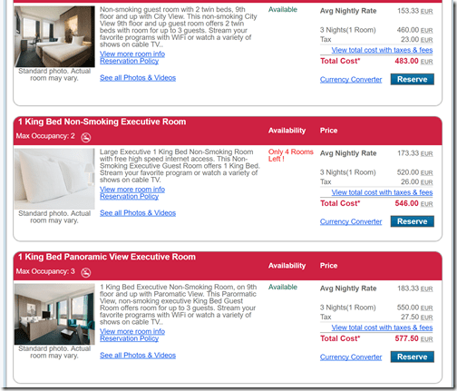 Ramada Apollo rates