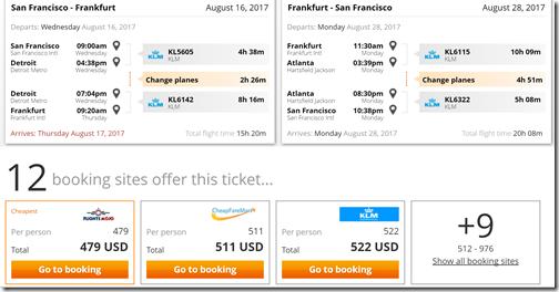 SFO-FRA $479 KL Aug16-28