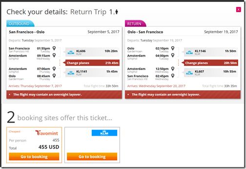 SFO-OSL $455 xxAMS Sep5-19