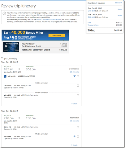 LAX-SZG $421 UA Oct 17-24