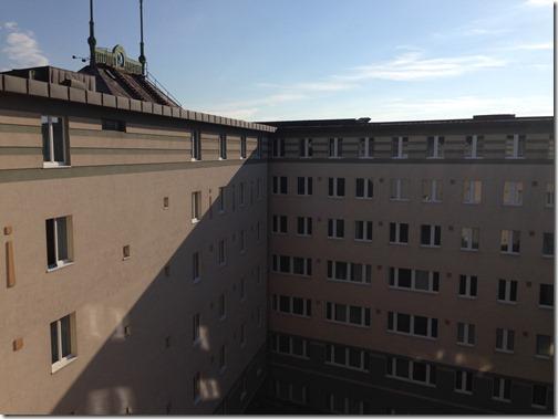 Rad Blu BTS courtyard