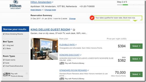 Hilton Amsterdam NYE rates