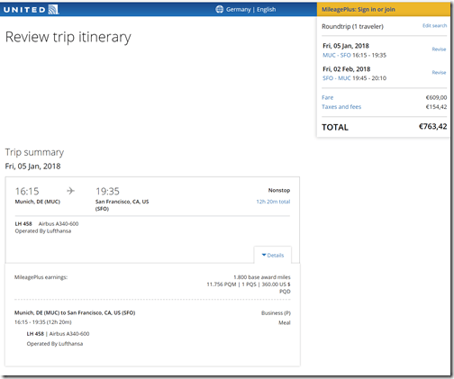 MUC-SFO 764 EUR Jan5-Mar 31 UA