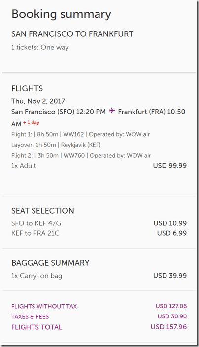 SFO-FRA $158ow WOW Nov 2