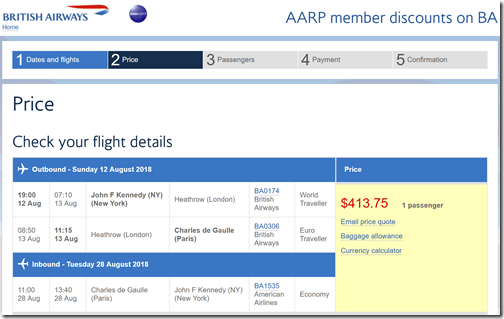 JFK-CDG $414 BA-AARP Aug12-28