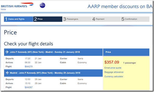 JFK-MAD $357 IB Jan21-29