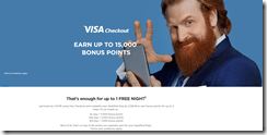 Wyndham Visa Checkout 15K offer