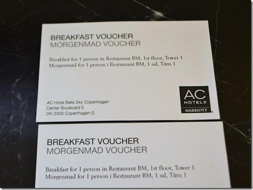 AC Bella breakfast cards