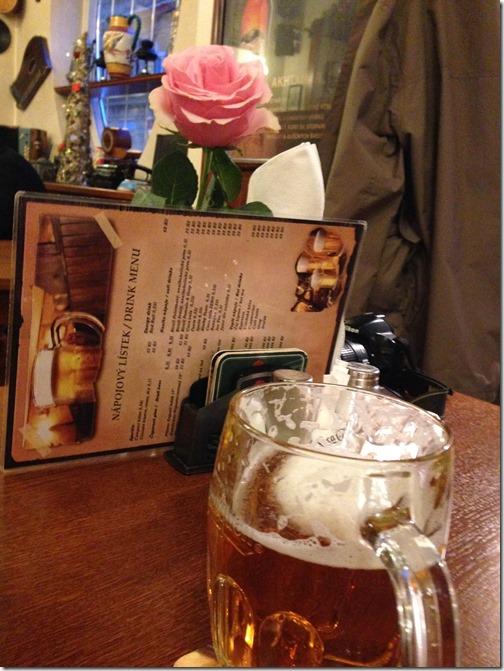 Prague pub beer