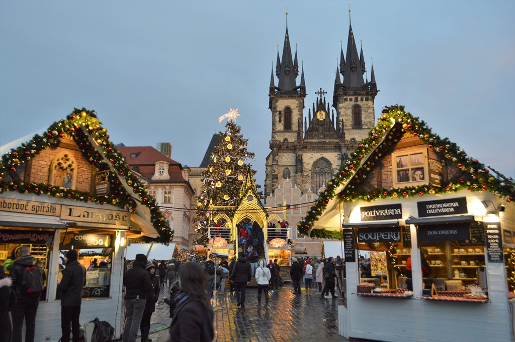 Prague Old Town Square Christmas Market Loyalty Traveler