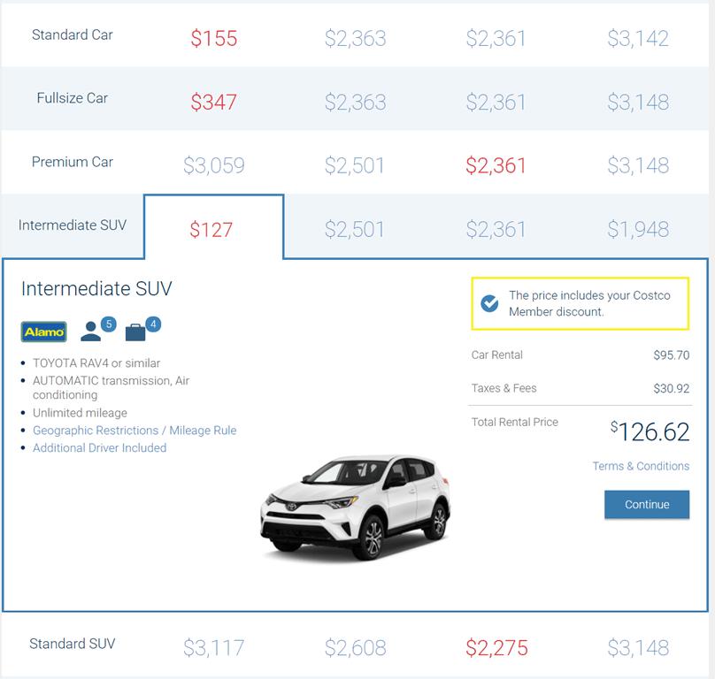 Costco Car Rental Phoenix