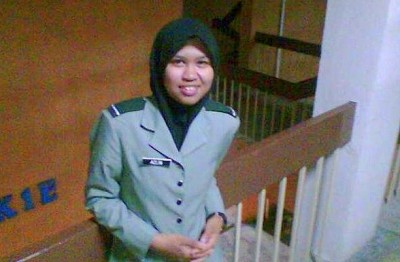 Azlin in her favourite uniform