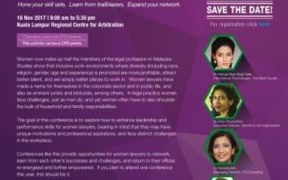 Malaysian Women Lawyers Conference, 16 November 2017