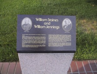 Staines-Jennings Plaque