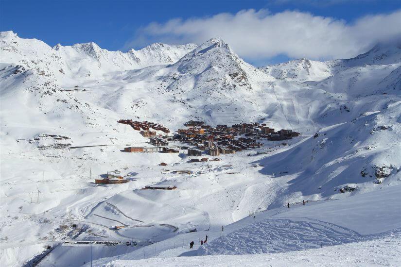 три долины горнолыжный курорт Франции