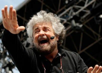 Beppe Grillo e il rischio fascismo (immagine presa da Il Dubbio)