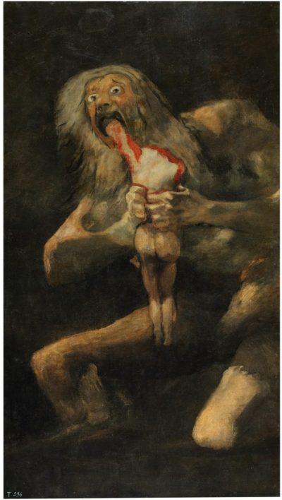 F. Goya, Saturno che divora i suoi figli, 1819-1823