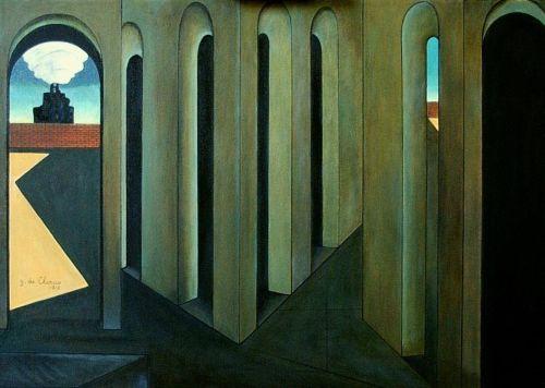 G. De Chirico, Il viaggio angoscioso, 1913