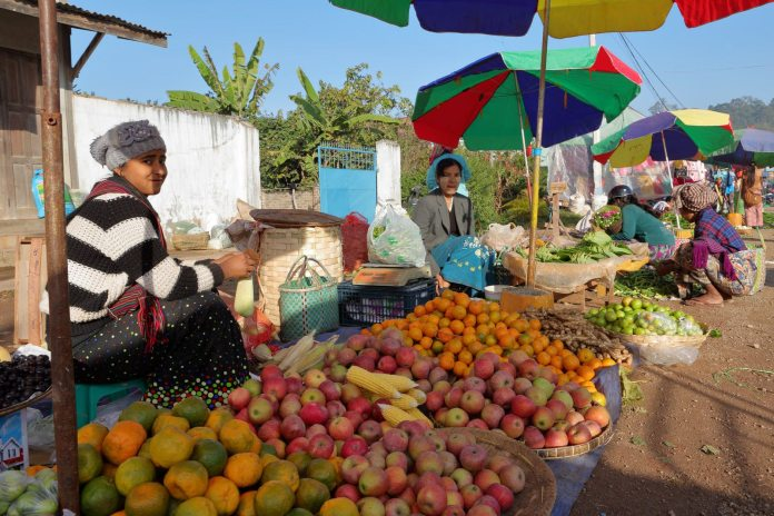 Fruit for sale at the market in Kalaw